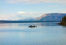 People fishing in the yukon territories Royalty Free Stock Images