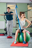 People in fitness center Stock Image