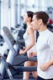 People in fitness club Stock Photo