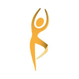 People fitness dancing icon. Illustration design Stock Photography