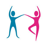 People fitness dancing icon. Illustration design Stock Photos