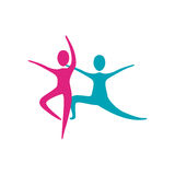 People fitness dancing icon. Illustration design Stock Images