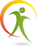 People, Fitness, Health, Naturopaths. Man and Fitness, Health logo, Naturopaths logo, person on the move Stock Images