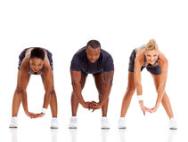 People fitness stretching Royalty Free Stock Photos