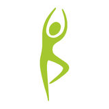 People fitness stretching icon. Illustration design Stock Photo