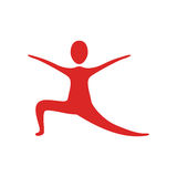 People fitness stretching icon. Illustration design Royalty Free Stock Photos
