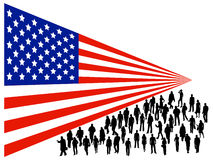 People and flag Royalty Free Stock Photos
