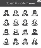 People flat icons. Classic and modern style Royalty Free Stock Photos