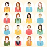 People Flat icons collection. Stock Images