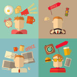 People Flat Icons Stock Images
