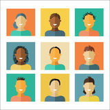 People flat icons. Royalty Free Stock Image