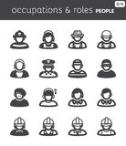People flat icons. Occupations and roles. Set of flat icons about people. Occupations and roles Stock Photo