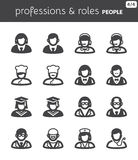 People flat icons. Professions and roles Royalty Free Stock Image