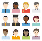 People flat icons vector set. Diversity of people flat icons set Vector Illustration
