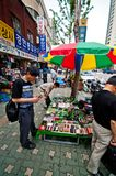 People at flea market in Seoul city Royalty Free Stock Images