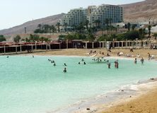 People floating at the Dead sea, Israel Royalty Free Stock Photos