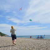 People fly kites Royalty Free Stock Images
