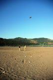 People flying kites Royalty Free Stock Image