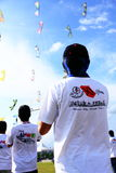People flying kites Stock Image