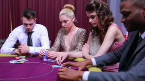 People folding at poker game Royalty Free Stock Images