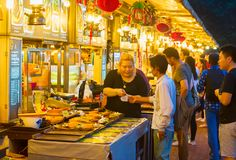 People at food court. Singapore Royalty Free Stock Images