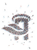 People in the form of an abstract symbol business. Stock Photography