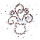 People in the form of an abstract symbol business Royalty Free Stock Images