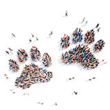 People in the form of animal tracks Royalty Free Stock Images