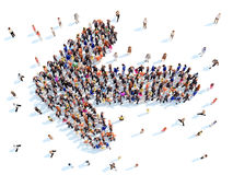 People in the form of arrows. Royalty Free Stock Photography