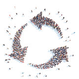 People in the form of arrows. Royalty Free Stock Image