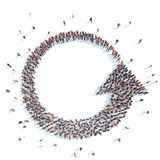 People in the form of arrows. Royalty Free Stock Images