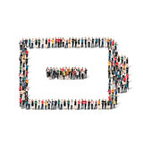 People form battery charge. A large group of people in the form of battery , charge . Vector illustration Stock Photography