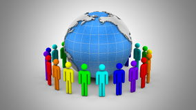 People Form A Circle Around The Earth stock footage