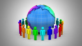 People Form A Circle Around The Earth stock video footage