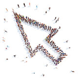 People in the form of cursor stock illustration