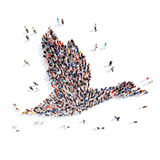 People in the form of a goose Royalty Free Stock Photography