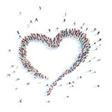People in the form of heart. Royalty Free Stock Images