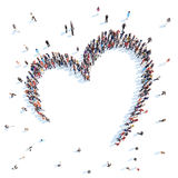 People in the form of hearts. Royalty Free Stock Photo