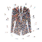 People in the form of a jacket Royalty Free Stock Photo