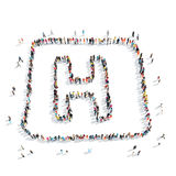 People  form  letter H medicine Stock Photography
