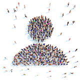 People in the form of a man. Royalty Free Stock Photos