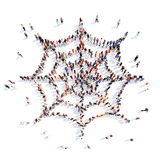 People in the form of a web Stock Images