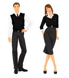 People in formal clothes. Vector illustration of people in formal clothes isolated on white background Stock Images