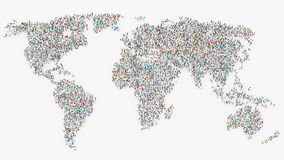 People forming a world map Royalty Free Stock Image