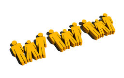 People forming www sign Royalty Free Stock Photography