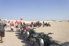 People with fourwheelers in Hurghada Stock Photo