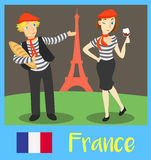 People of France Royalty Free Stock Image