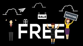 People and free sale