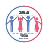 Freedom lifestyle design. People of freedom lifestyle and raised theme Vector illustration Royalty Free Stock Photo