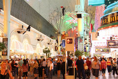 People at Fremont Street Experience Stock Photography